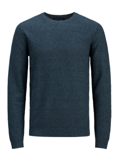 Jack & Jones Trui jprNIGEL KNIT CREW NECK 12136825 Navy Blazer