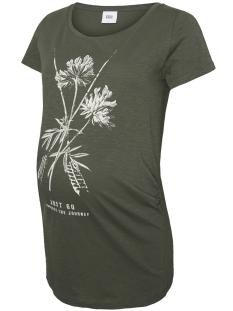 Mama-Licious Positie shirt MLDESERT S/S JERSEY TOP B. 20008347 Thyme