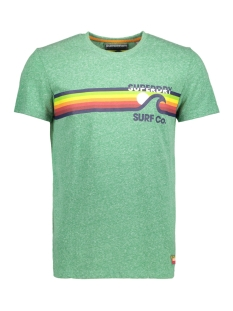 Superdry T-shirt M10012XQ SURF CO OU7 GREEN