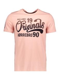 Jack & Jones T-shirt JORNEWSPY TEE SS CREW NECK 12138011 Silver Pink/SLIM