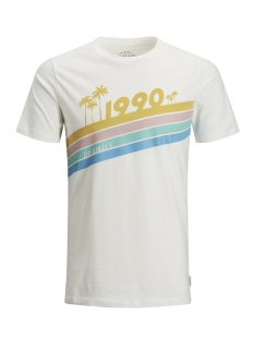 Jack & Jones T-shirt JORRAINBOW TEE SS CREW NECK 12132547 Cloud Dancer