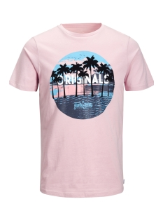 Jack & Jones T-shirt JORRAINBOW TEE SS CREW NECK 12132547 Silver Pink
