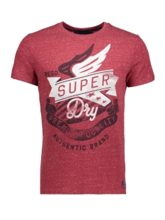 Superdry T-shirt M10017HP ER8 (WINTER RED SNOWY)