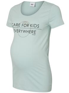 Mama-Licious Positie shirt MLUNICEF S/S ORGANIC TOP A. 20008710 Blue Haze