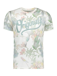 Jack & Jones T-shirt JORFLOWER TEE SS CREW NECK 12138410 Cloud Dancer