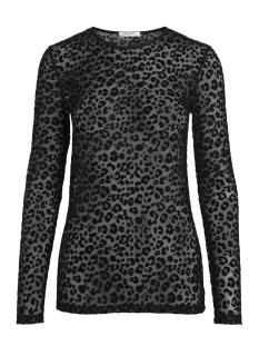 Pieces T-shirt PCMINA LS MESH TOP D2D 17090904 Black/BIG LEO