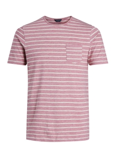 Jack & Jones T-shirt JPRJED STRIPE TEE SS CREW NECK 12133880 Hawthorn Rose