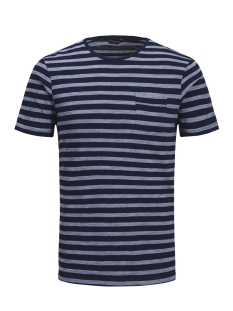 Jack & Jones T-shirt JPRJED STRIPE TEE SS CREW NECK 12133880 Navy Blazer
