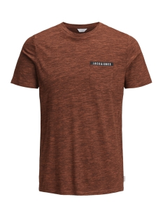 Jack & Jones T-shirt JCOMELANGE TEE SS CREW NECK FR 12135718 Poinciana