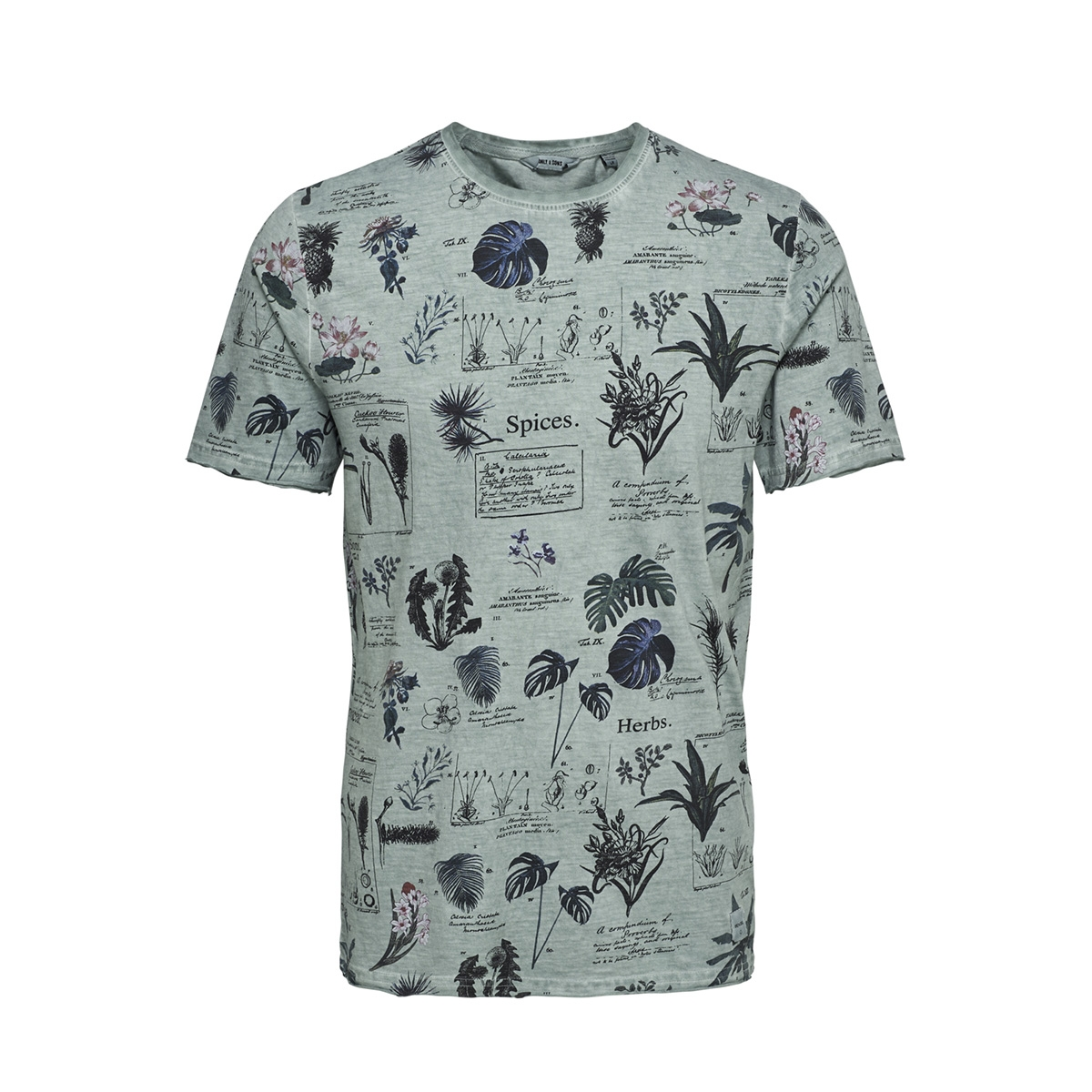 onsdimas slub aop ss tee reg 22009955 only & sons t-shirt aquifer