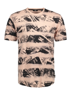 Only & Sons T-shirt onsDAYMON REG SS TEE 22010034 Misty Rose