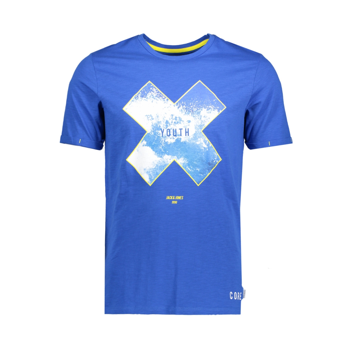 jconiagra tee ss crew neck nl 12139194 jack & jones t-shirt nautical blue