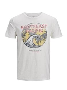 Jack & Jones T-shirt JORRIDER TEE SS CREW NECK 12136553 Cloud Dancer/Slim