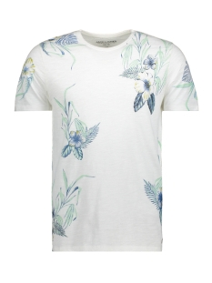 Jack & Jones T-shirt JPRSUMMER AOP TEE SS CREW NECK 12137080 Cloud Dancer/Slim Fit