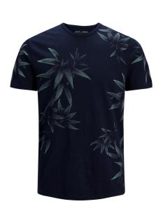 Jack & Jones T-shirt JPRSUMMER AOP TEE SS CREW NECK 12137080 Navy Blazer