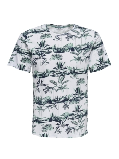 Only & Sons T-shirt onsDAYTON AOP SS TEE REG 22009988 White