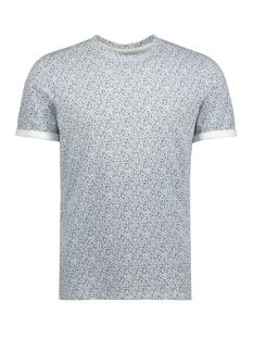 Jack & Jones T-shirt JPRAUSTIN AOP  TEE SS CREW NECK 12135556 Cloud Dancer