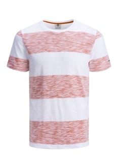 Jack & Jones T-shirt JCOSTRIPY TEE SS CREW NECK 12135648 Poinciana