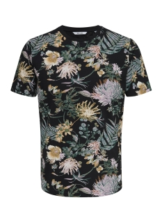 Only & Sons T-shirt onsSOLOMON AOP SS TEE 22009232 Black