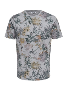 Only & Sons T-shirt onsSOLOMON AOP SS TEE 22009232 Light Grey Melange