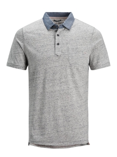 Jack & Jones Polo JPRDARREN SS POLO 12136477 Light Grey Melange