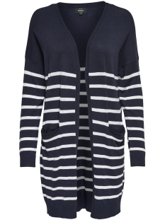 Only Vest onlMILA STRIPE L/S LONG CARDIGAN KN 15145961 Night Sky