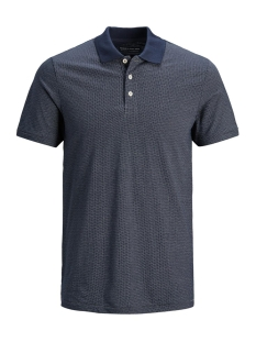 Jack & Jones Polo JPRLARRY AOP SS POLO 12136021 Navy Blazer
