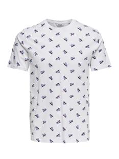 Jack & Jones T-shirt onsDOMINGO SS AOP TEE 22010561 White