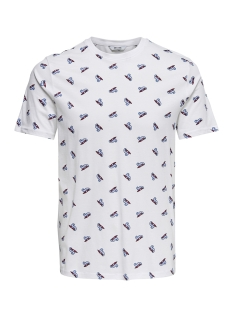 Only & Sons T-shirt onsDOMINGO SS AOP TEE 22010561 White