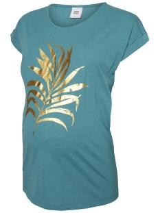 Mama-Licious Positie shirt MLPAMELA S/S JERSEY TOP A. 20008416 Green Blue Slat/Melange W