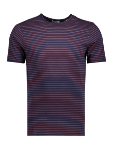 Only & Sons T-shirt onsALBERT STRIPE SS SLIM TEE NOOS 22006398 Dress Blues