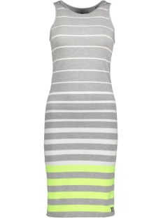 Superdry Jurk G80177XQ Grey Marl/Lime Stripe(SJ7)