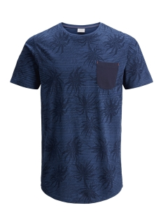 Jack & Jones T-shirt JORSTRAW TEE SS CREW NECK 12136593 Dark Denim