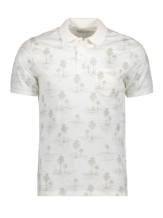 Jack & Jones Polo JPRWINSTON SUMMER AOP SS POLO 12137084 Cloud Dancer