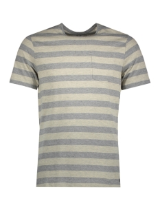 Jack & Jones T-shirt JPROCEAN STRIPE TEE SS CREW NECK 12136479 Light Grey Melange