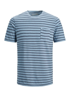 Jack & Jones T-shirt JPROCEAN STRIPE TEE SS CREW NECK 12136479 Faded Denim