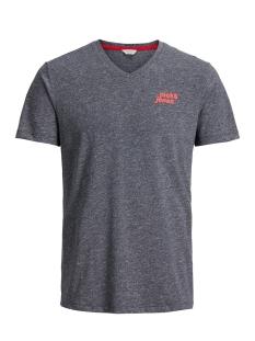 Jack & Jones T-shirt JCOBERGKAMP TEE SS V-NECK 12138899 Sky Captain