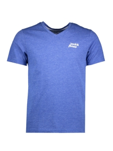 Jack & Jones T-shirt JCOBERGKAMP TEE SS V-NECK 12138899 Nautical Blue