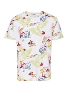 Only & Sons T-shirt onsDEVIN AOP FITTED TEE 22010017 White