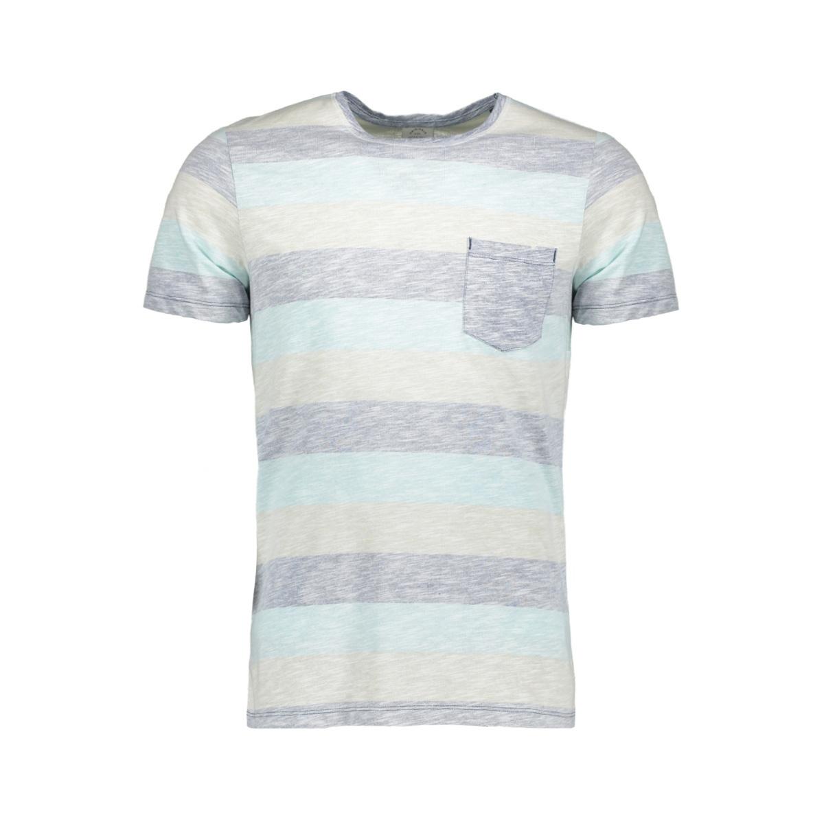 jorstanly stripe tee ss crew neck 12136580 jack & jones t-shirt plume/slim
