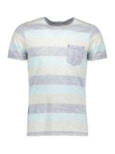 Jack & Jones T-shirt JORSTANLY STRIPE TEE SS CREW NECK 12136580 Plume/SLIM