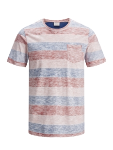 Jack & Jones T-shirt JORSTANLY STRIPE TEE SS CREW NECK 12136580 Baked Apple/SLIM