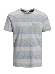 Jack & Jones T-shirt JORSTANLY STRIPE TEE SS CREW NECK 12136580 Iceberg Green/ SLIM
