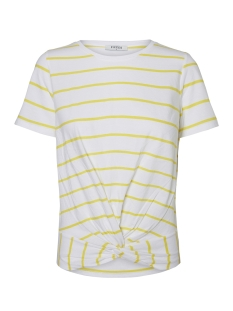 Pieces T-shirt PCELEGANCE SS TEE D2D PB 17093936 Bright White/Lemon ZEST