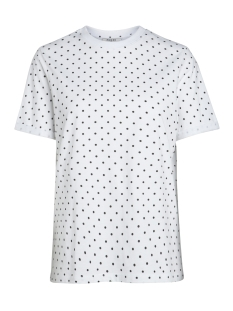 Pieces T-shirt PCRIA SS FOLD UP PRINT TEE D2D 17093751 Bright White/BLACK