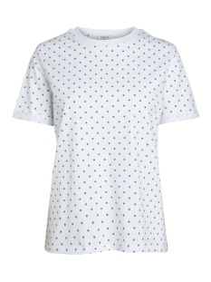 Pieces T-shirt PCRIA SS FOLD UP PRINT TEE D2D 17093751 Bright White/SNORKEL BL