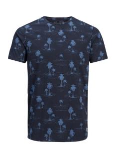 Jack & Jones T-shirt JPRJASON AOP TEE SS CREW NECK 12139058 Navy Blazer