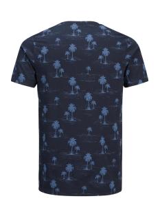 jprjason aop tee ss crew neck 12139058 jack & jones t-shirt navy blazer
