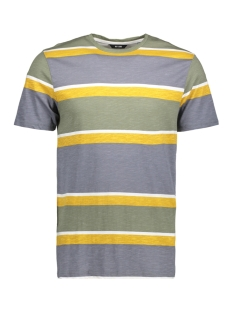 Only & Sons T-shirt onsHOLDING AOP SLUB TEE 22010176 White/Yellow/Green