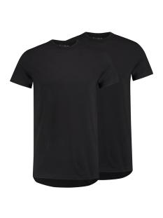 RJ Bodywear T-shirt AMSTERDAM O NECK 2PACK ZWART